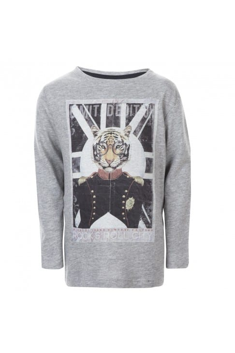 T-shirt manches longues tigre