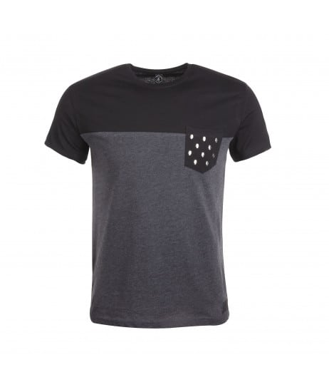 T-shirt bicolore anthracite