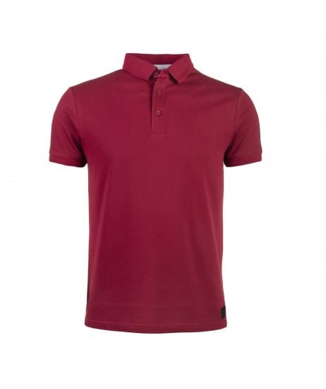 Polo uni bordeaux