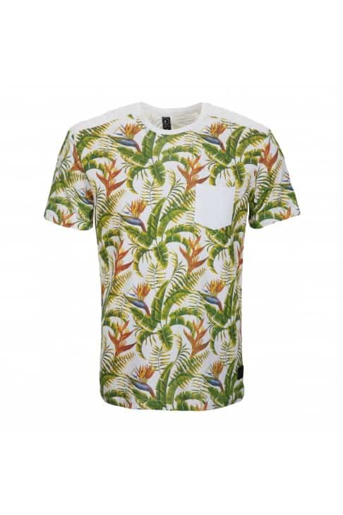 T-shirt homme imprimé tropical
