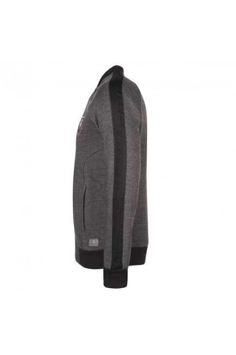 Sweat zippé homme anthracite
